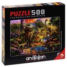 Puzzle Anatolian 500 - The World of Dinosaurs, Jan Patrick Krasni