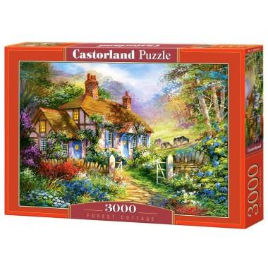 Castorland 3000 - Forest cottage