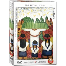 Eurographics 1000 - Flower Festival, Diego Rivera