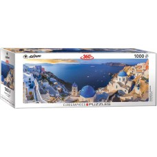 Eurographics  1000  - Santorini, Greece, - Panoramic puzzle