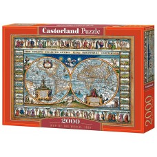 Castorland 2000 - World Map of 1639
