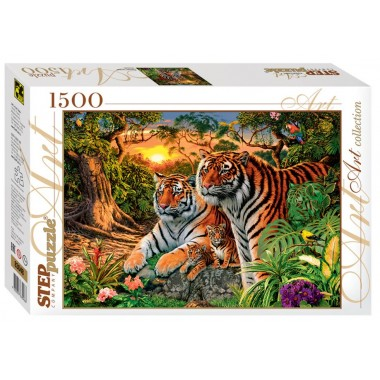 Step Puzzle 1500 - How much tiger?