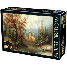 D-Toys 1000  -  Romantic winter landscape with a castle, Albert Bredov