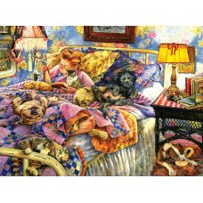 SunsOut  1000 - Bed with pets, Susan Buro