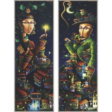 Пъзел Gold Puzzle от 2000 части - Нощна среща