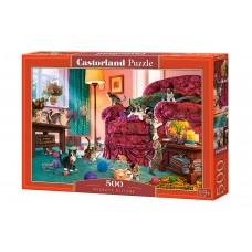 Castorland 500  - Naughty kitten