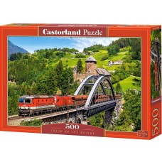 Castorland 500 - Train on the bridge