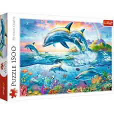 Trefl 1500 - Dolphin family