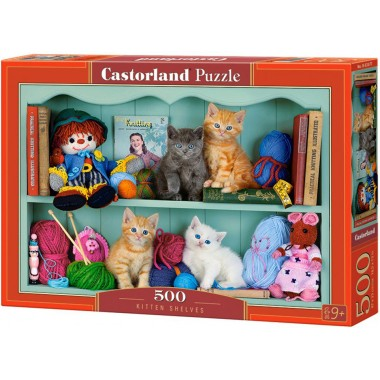 Castorland 500 - Cats on the shelves