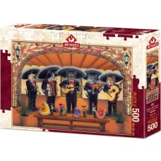 Art Puzzle 500 - Flamenco Meow Orchestra, Don Roth