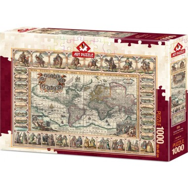 Art Puzzle 1000 - Ancient map of the world