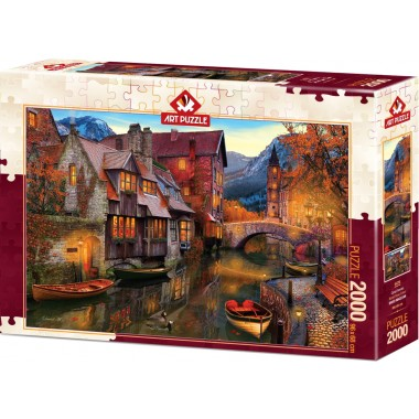 Art Puzzle 2000 - Houses on the canal, David M.