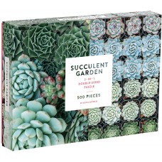 Galison 500 - Garden with succulents