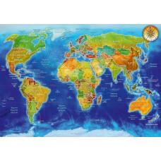Bluebird 1000 - World Geopolitical Map, Adrian Chesterman