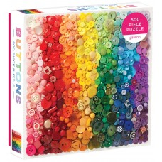 Galison 500 -  Buttons in the colors of the rainbow