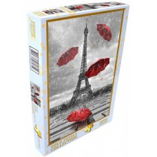 Gold Puzzle 1000 - Eiffel tower with flying umbrellas